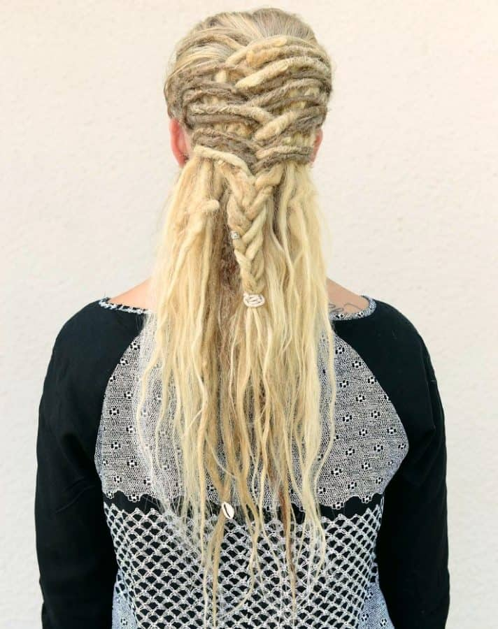 Dread Frisuren mit Pony Dreadlock Braid