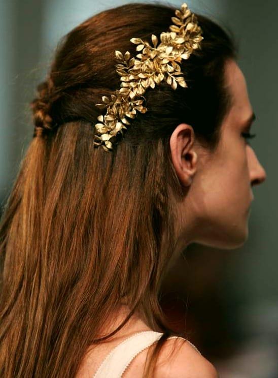 Festliche Frisuren Halblange Haare Einfacher Halbgeflochtener Stil