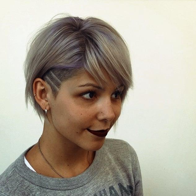 Frisuren Bob Undercut Inspirationen Rauchiger Lavendel Undercut