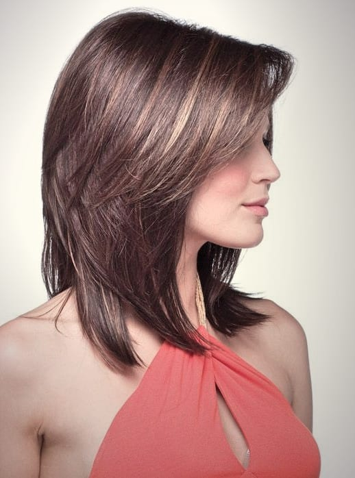 Genial Frisuren Schulterlang Glatt