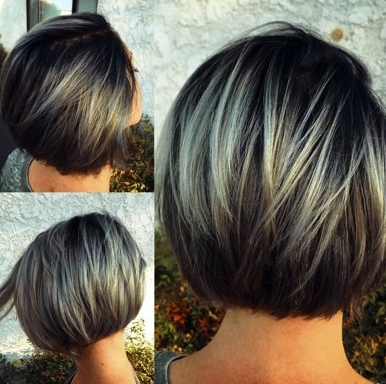 Frisuren Bob Bilder Gebogene Bob-Frisuren von Blau bis Silber - Stilvolle Kurzhaarschnitte für Frauen