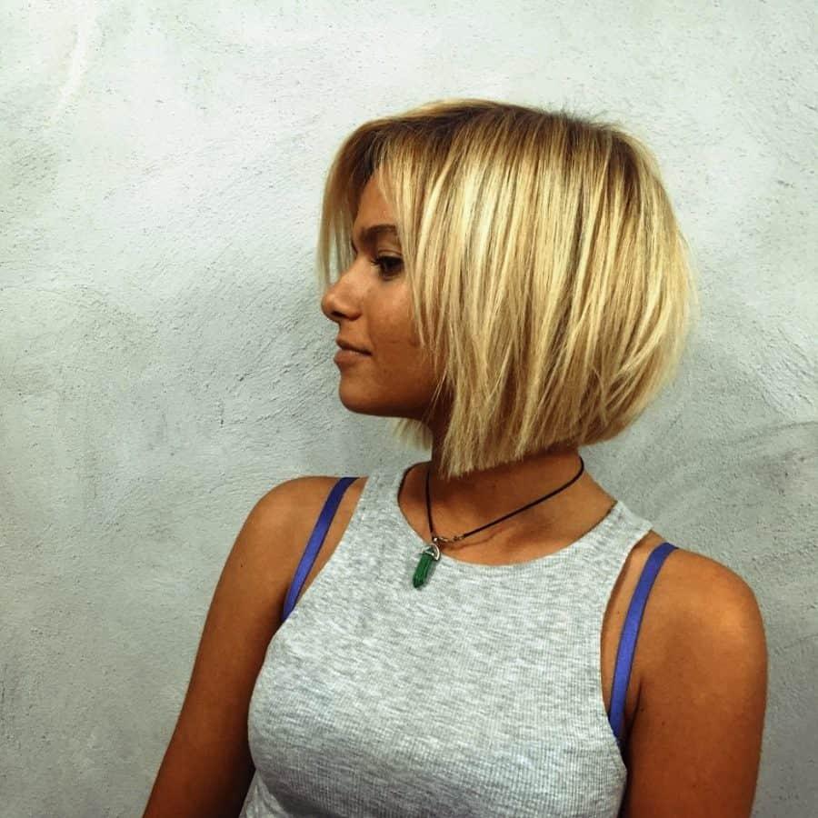 Neuer Frisuren Bob Feines Haar Winkel Bob für feines Haar