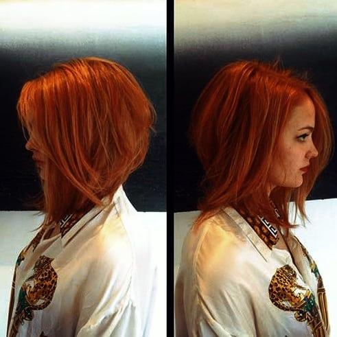 Wunderschönen Frisuren Bob Rot Süßeste rote Bob Frisur