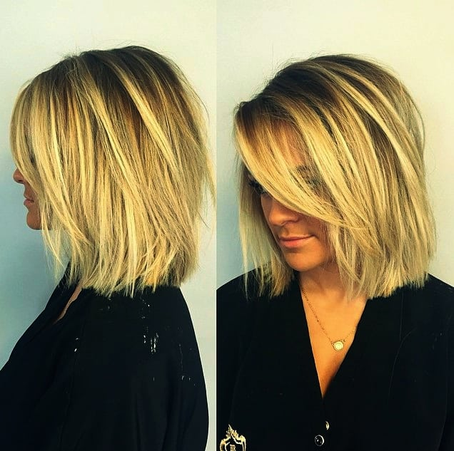 Frisuren fur dunnes halblanges haar
