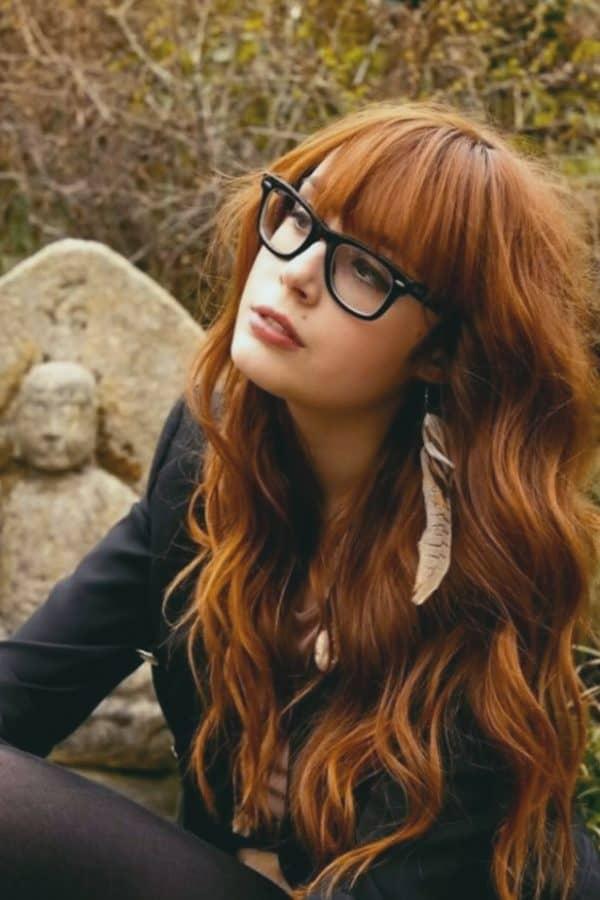 Wunderschönen Pony Frisuren mit Brille Inspirationen Eine der schönsten langen Frisuren mit Pony