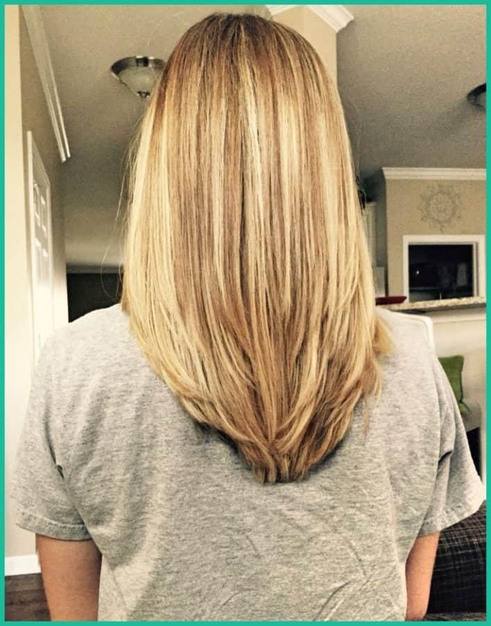 Frisuren lange haare v schnitt