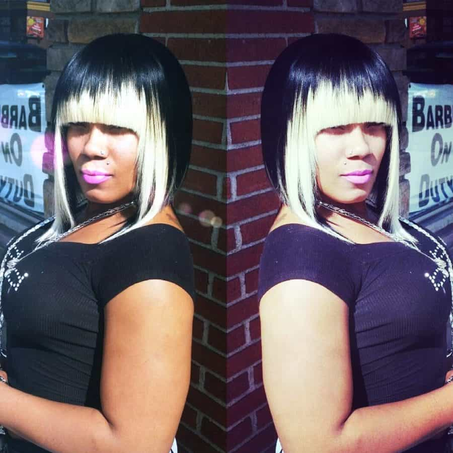 Schwarz und Blond