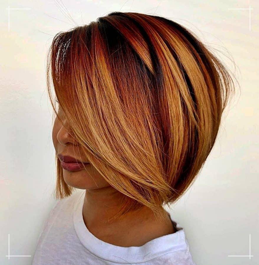 3 Frisuren Kinnlang Glatte hervorgehobene