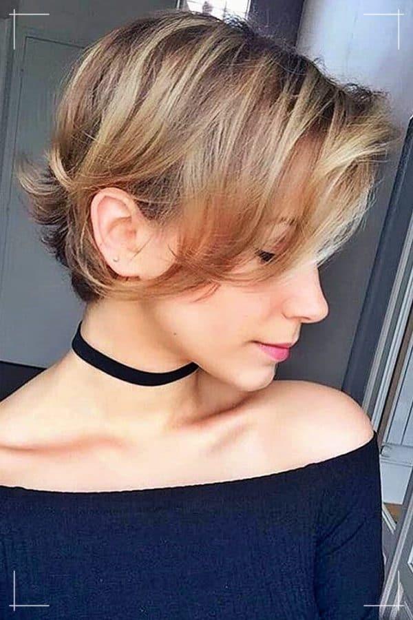 Kurzhaarfrisuren Lange Pixie für dünnes Haar